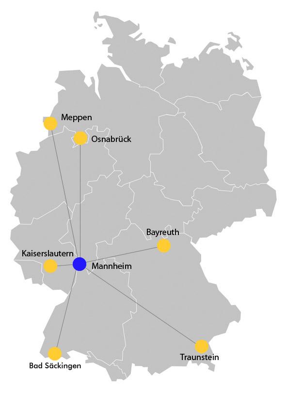 Standorte Kurpfalz-ML Schule